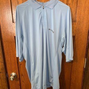 Columbia PFG short sleeve light blue XL